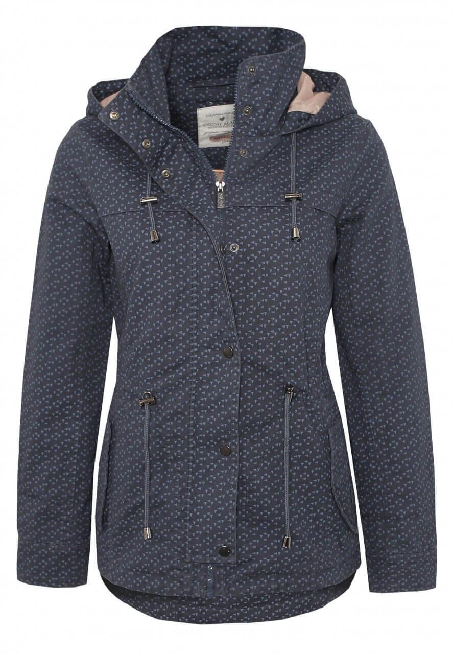 Dunkel-Blaue Jacke mit Muster-Print