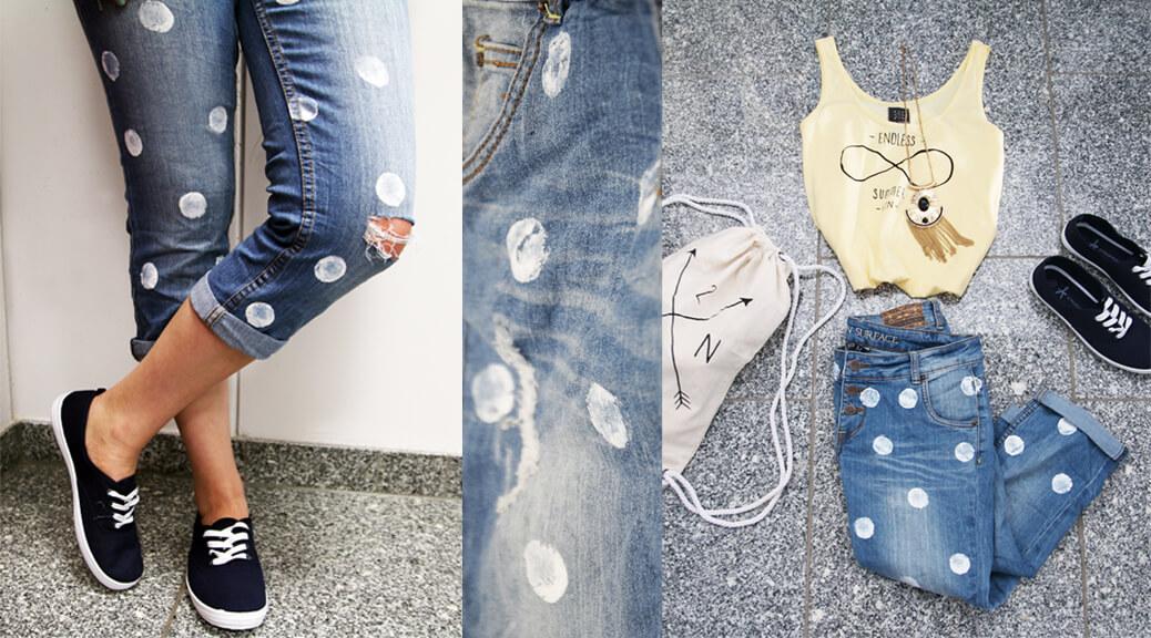 DIY Punkte Jeans