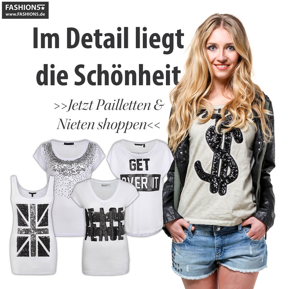 Pailletten & Nieten bei FASHION5