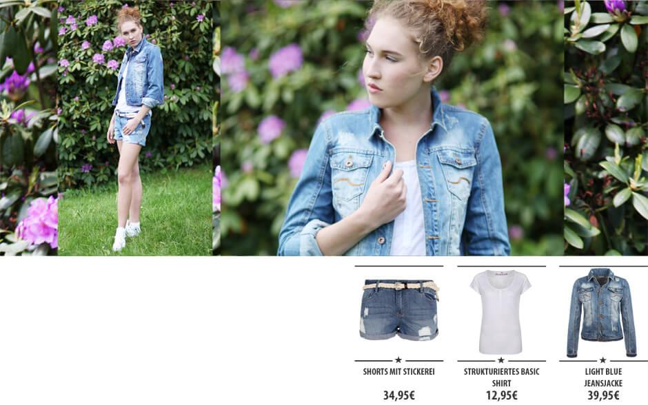 Sommer Denim - Short & Jeansjacke