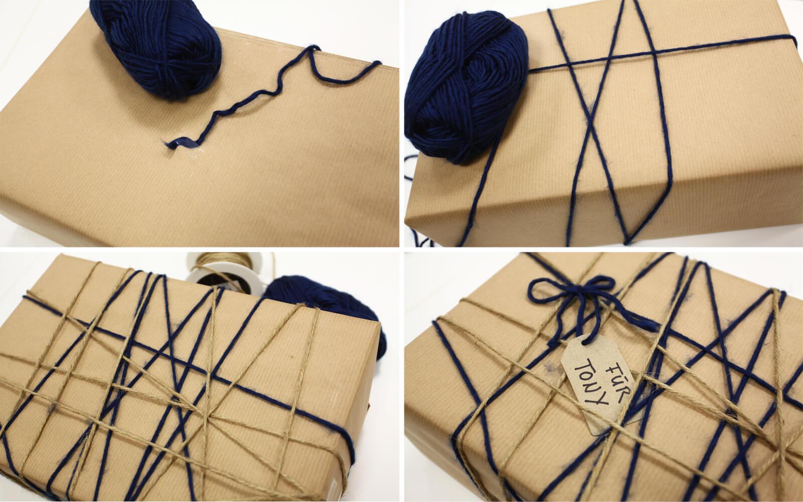 Verpackung mit Wolle