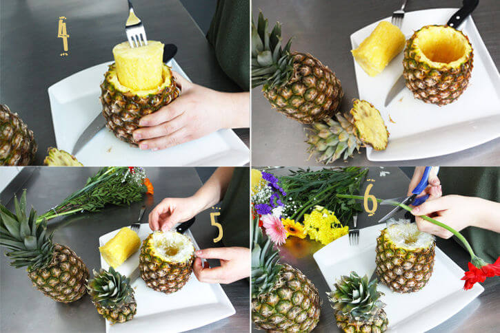 diy sommerliche ananas vase. Black Bedroom Furniture Sets. Home Design Ideas
