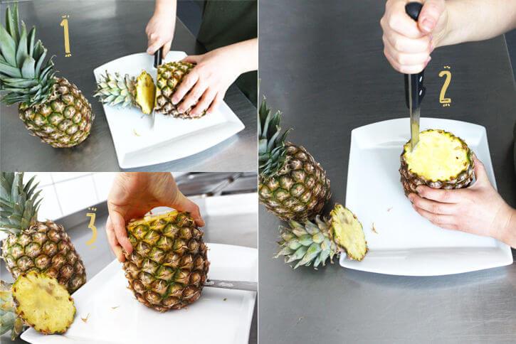 DIY Vase aus Ananas