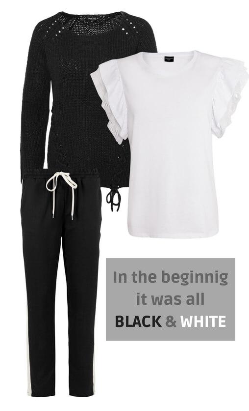 Outfit Schwarz-Weiß
