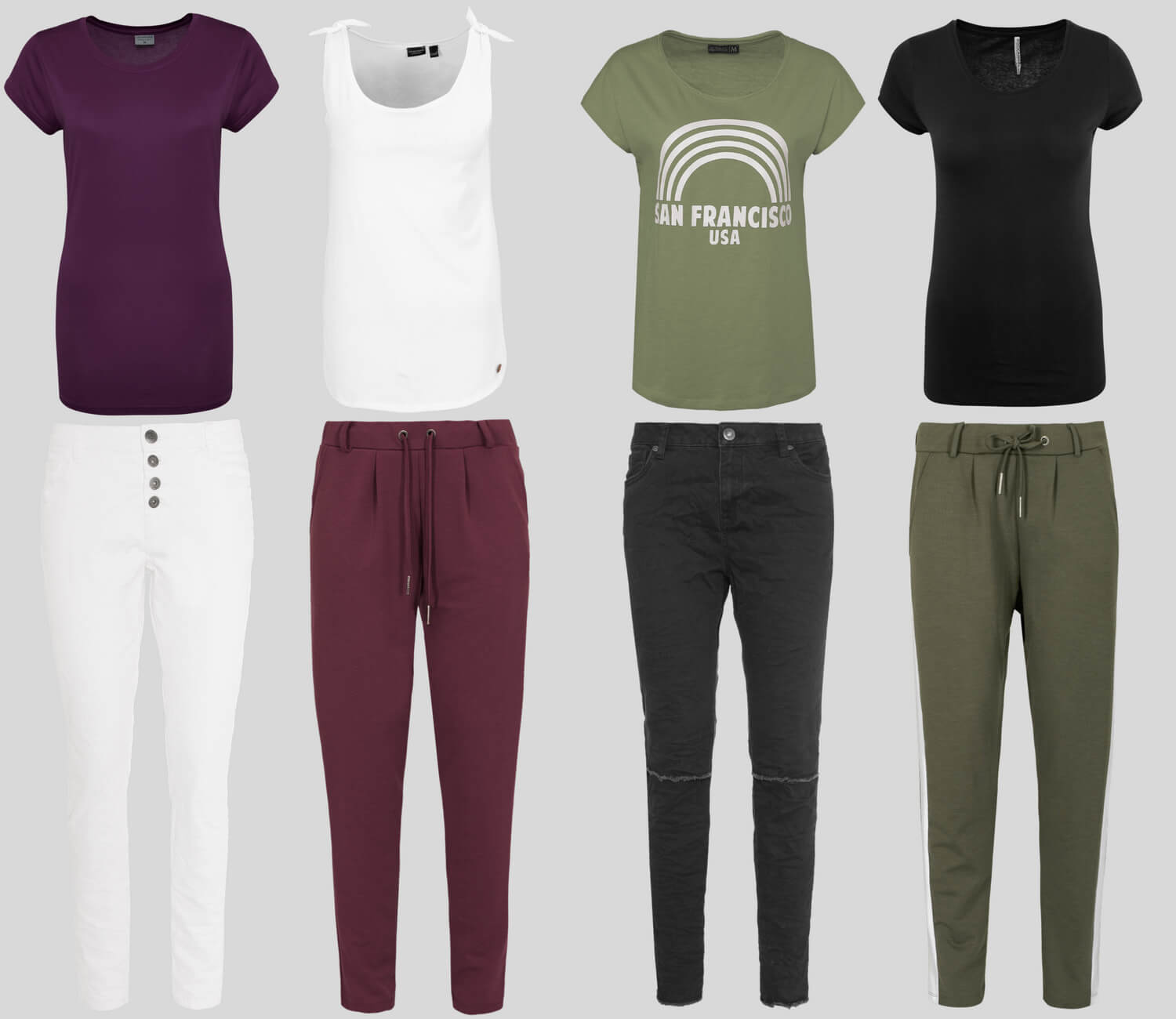 Farbige Outfits