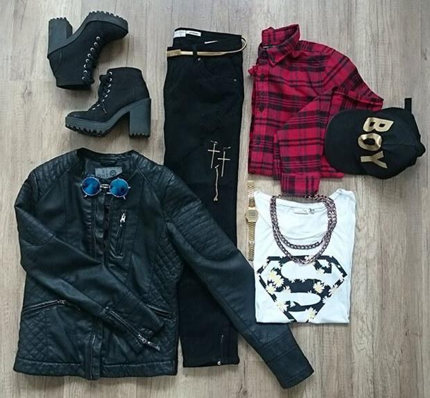 90er Grunge Outfit