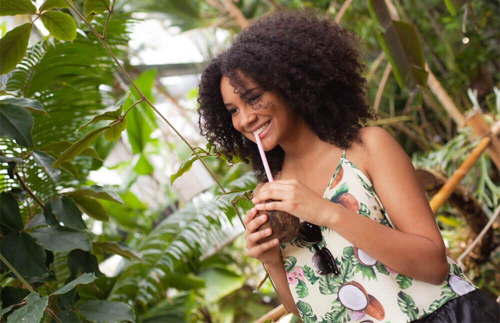 Kokosnuss Top Sommeranfang