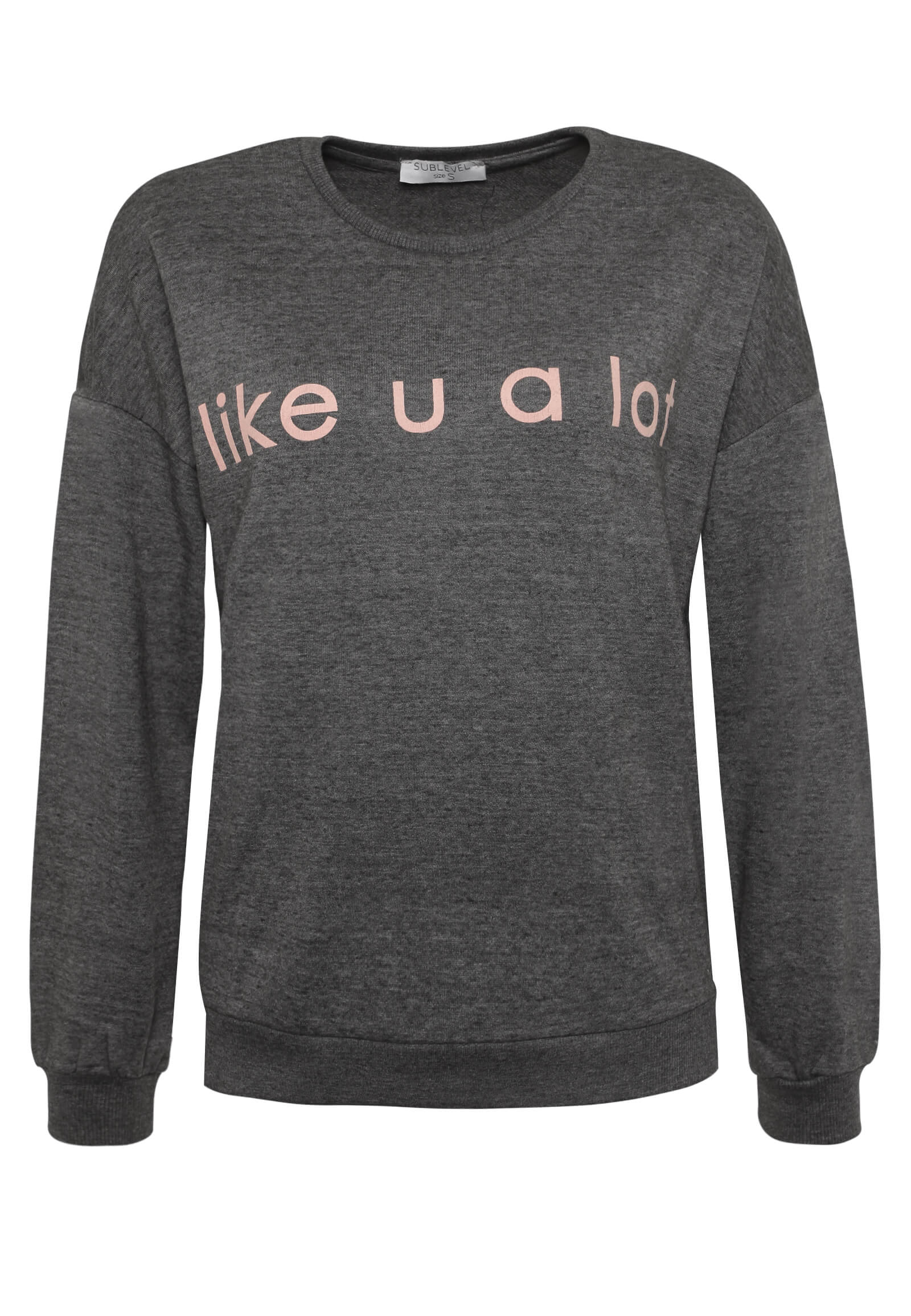 Dunkel-Graues Statement Sweatshirt