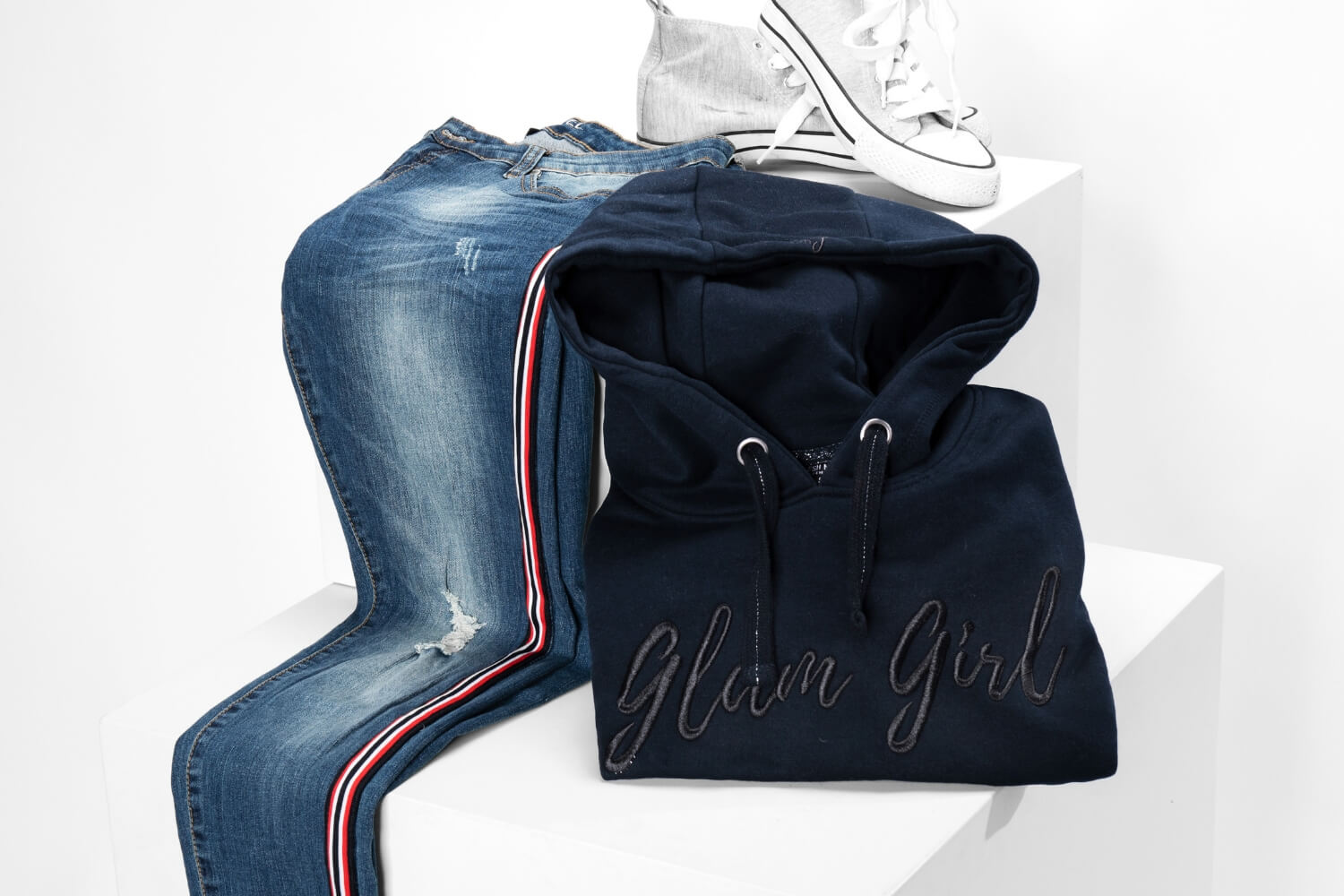 "Damen Outfit mit ""Glam Girl"" Pullover"