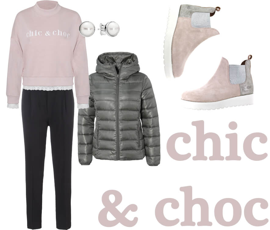 Khaki Rosa Outfit chic