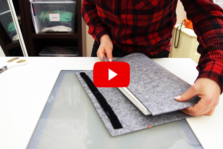DIY Filzhülle für Tablet, Smartphone oder Laptop - ganz easy!