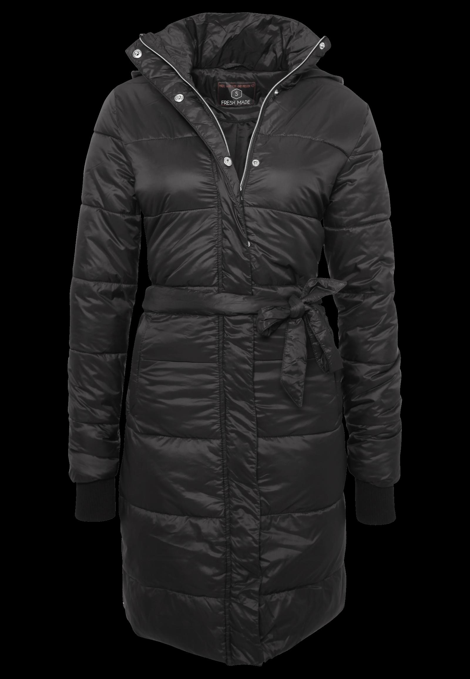 Warmer Mantel mit Gürtel