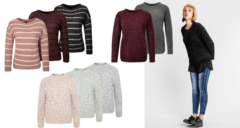 Klassische Strick Pullover