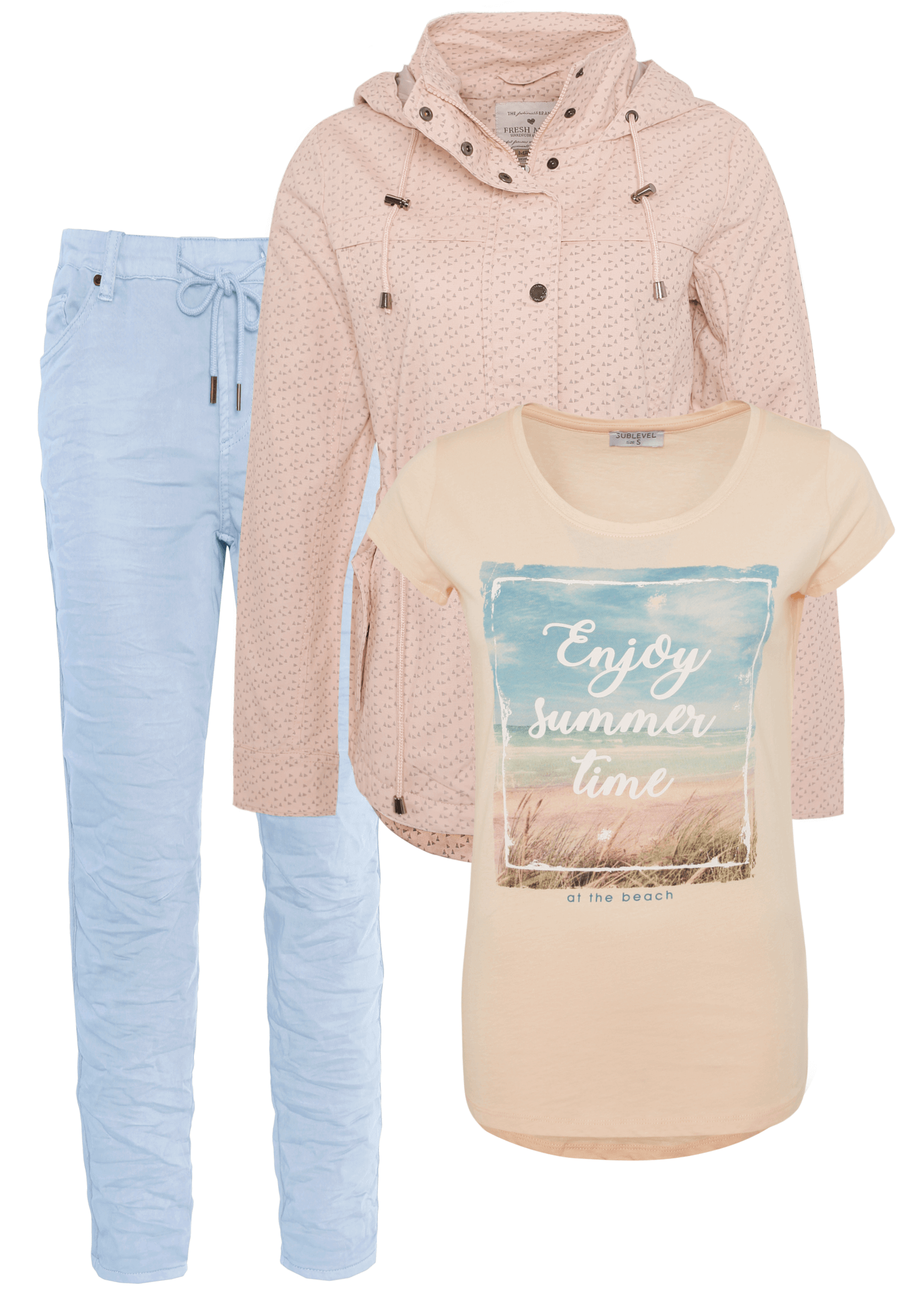 Outfit Hell-Blau mit Rosa