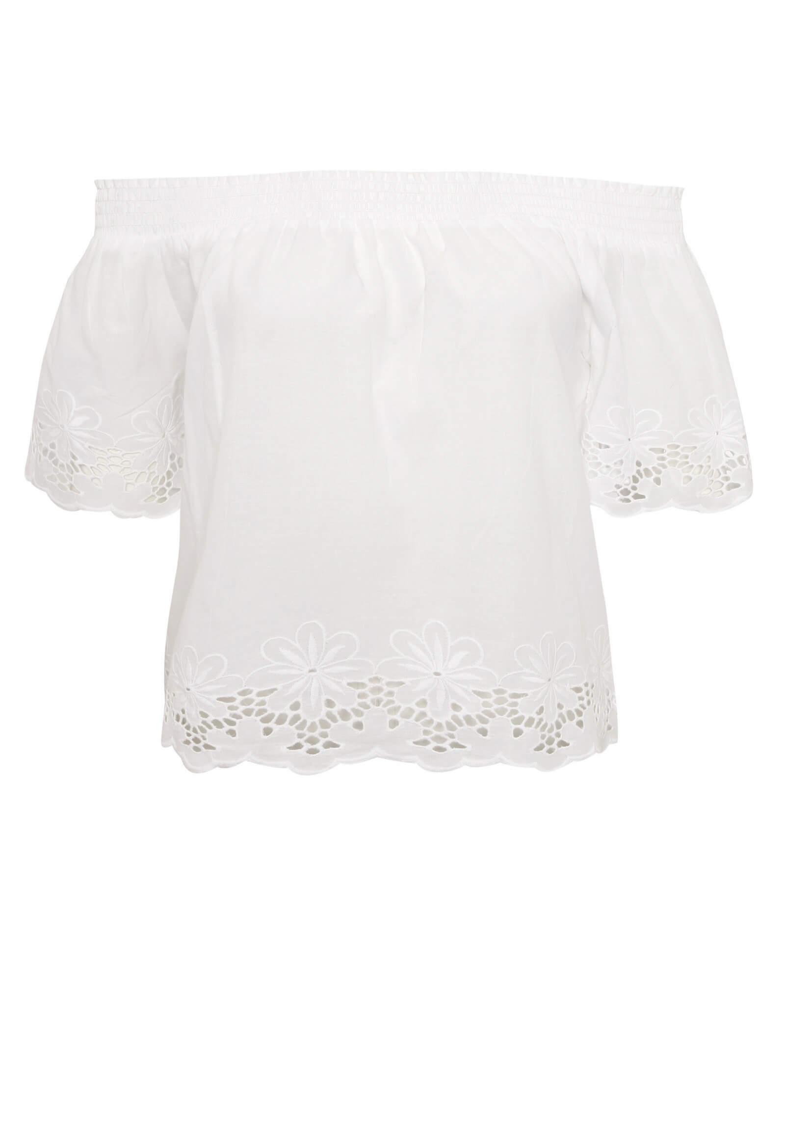 Weiße Off-Shoulder Bluse