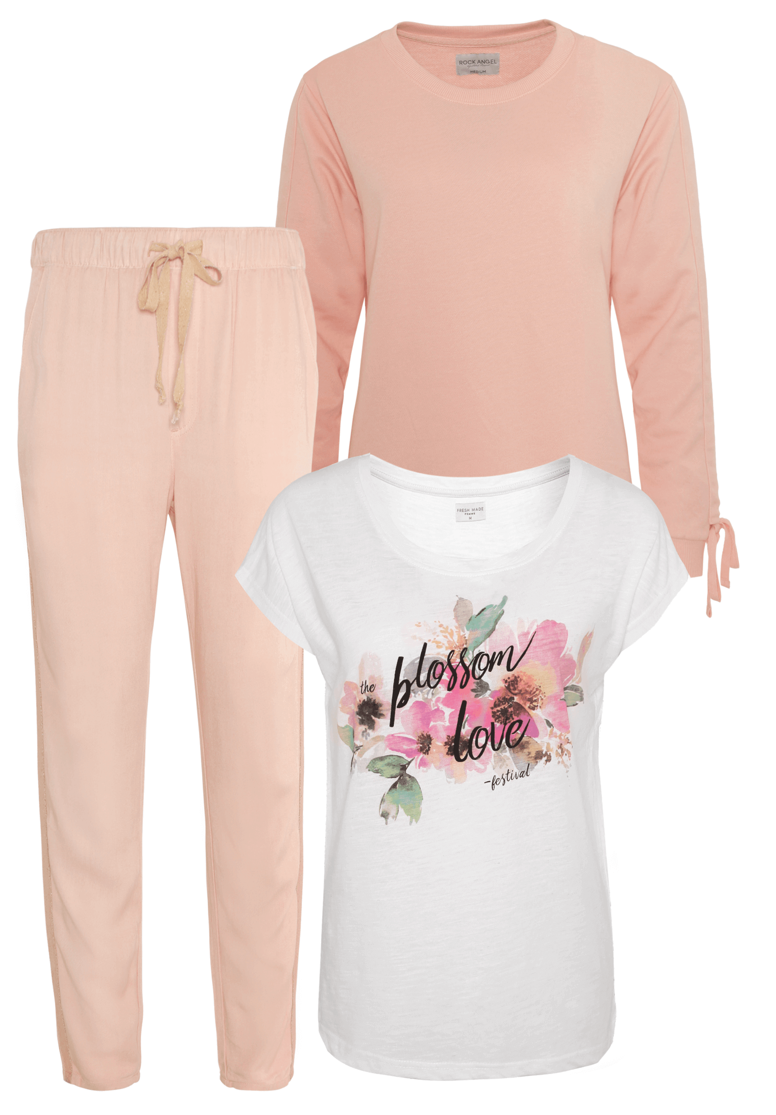 Outfit Rosa mit Weiß