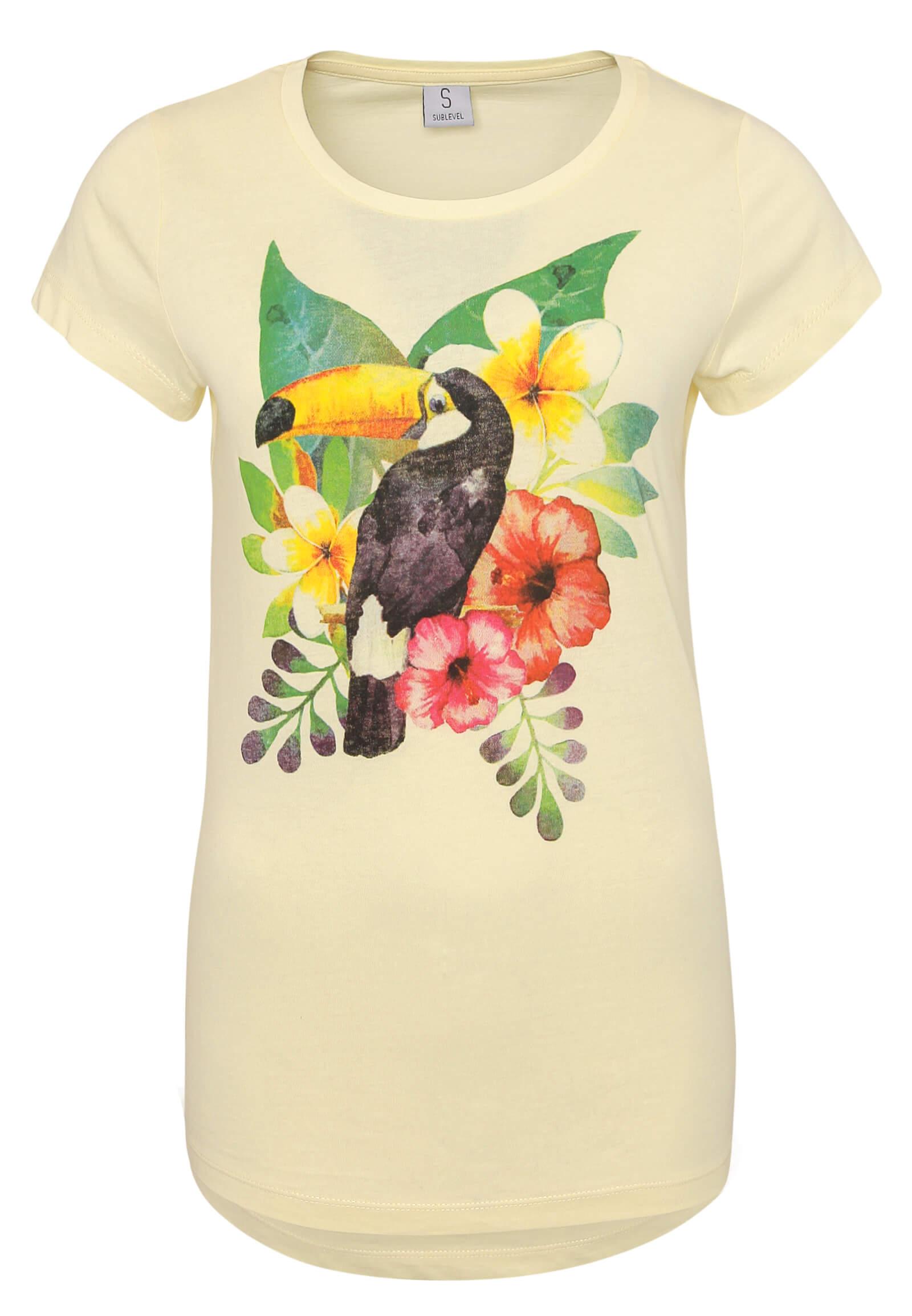 Gelbes T-Shirt mit Tukan