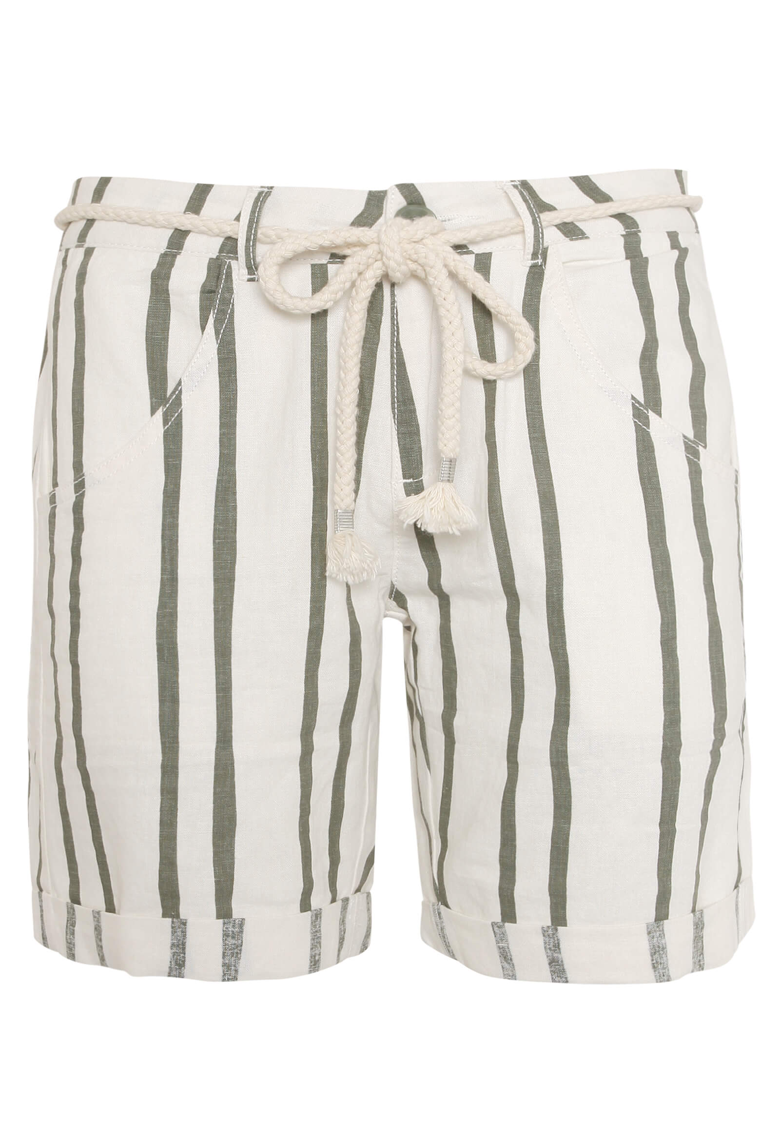 gestreifte Leinen-Shorts