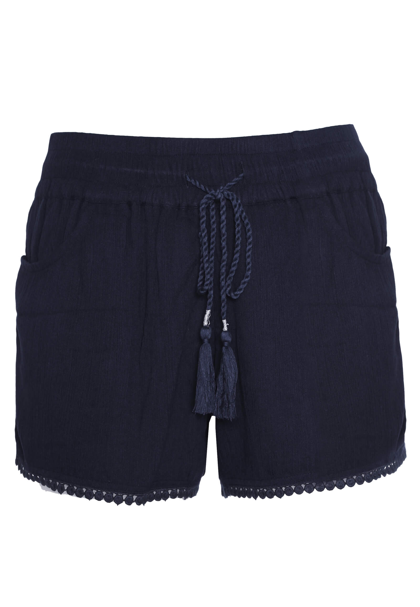 Crepe Shorts mit Kordel