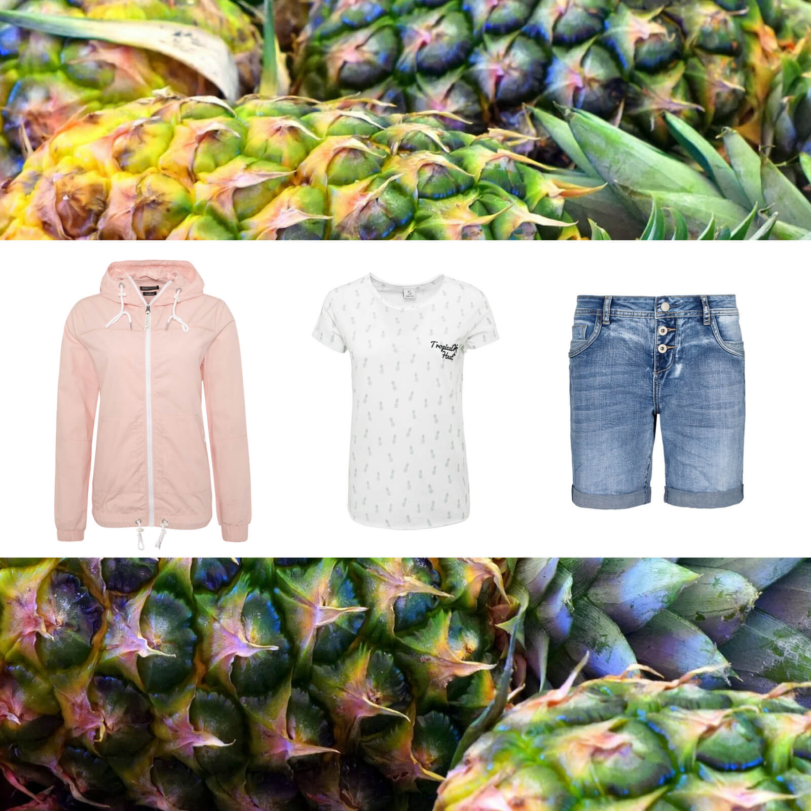 Outfit mit Ananas Print