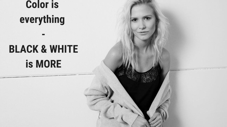 Look Schwarz-Weiß