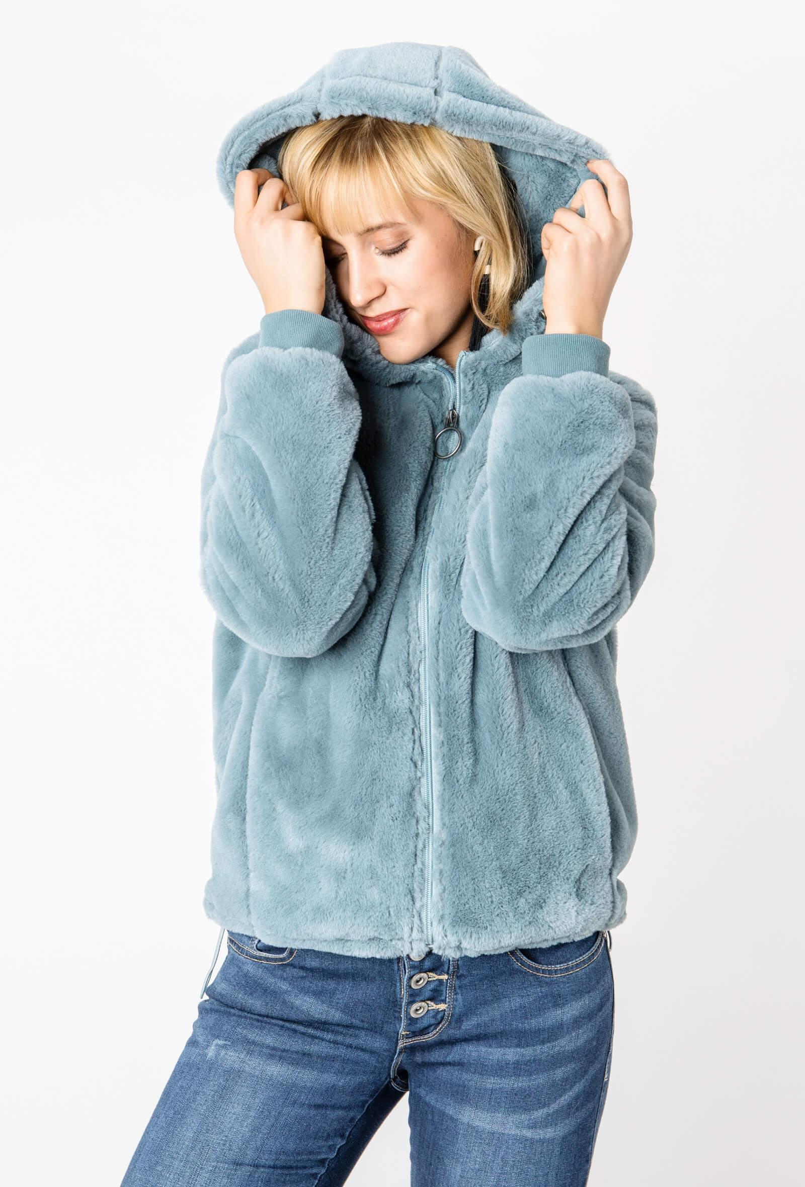 Kuschel-Jacke in Blau