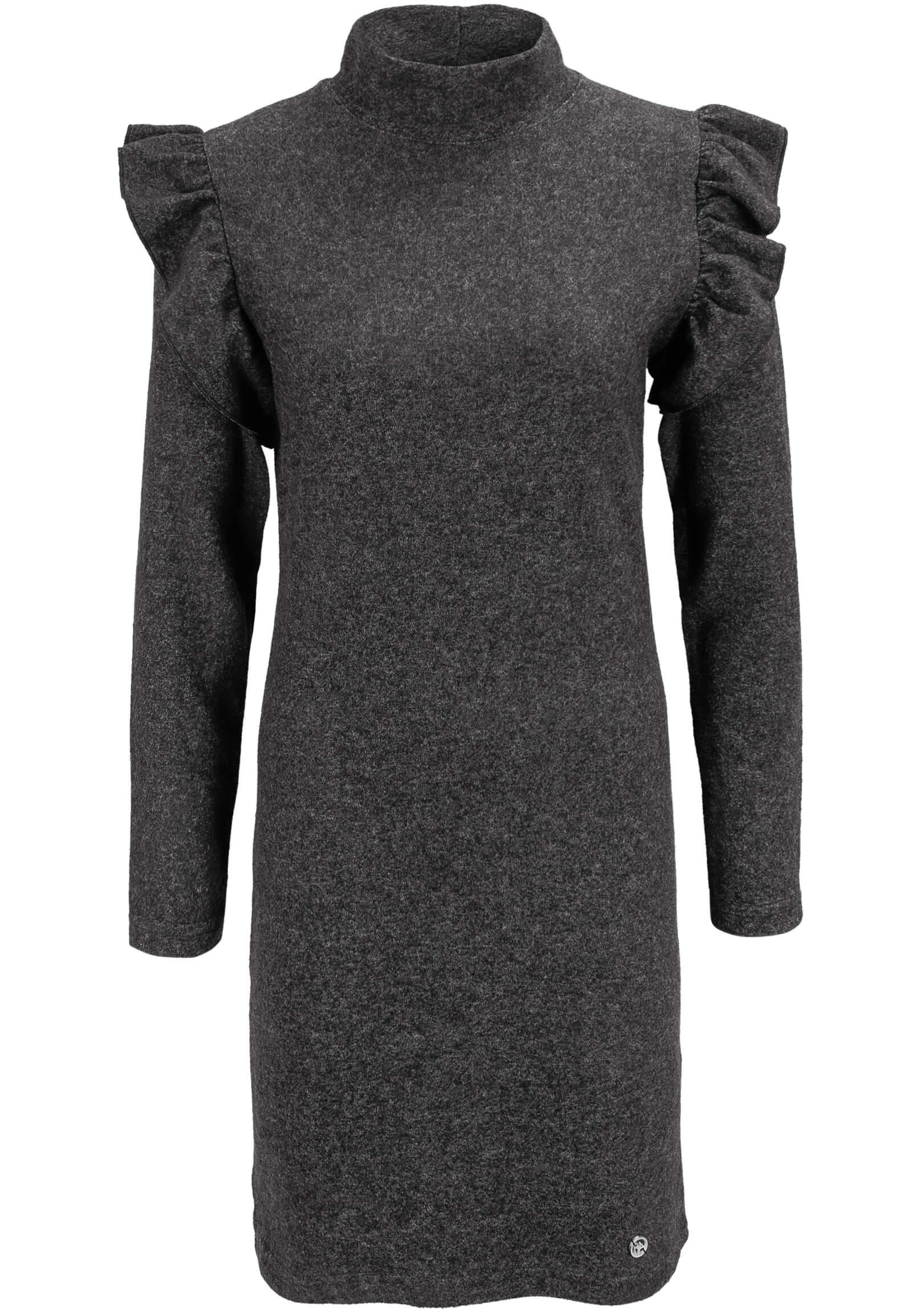 dunkel-graues Strick-Kleid