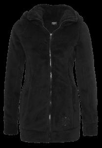Schwarze Kuschel-Jacke