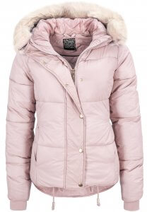 Winter-Jacke in Rosa mit Fell-Kapuze
