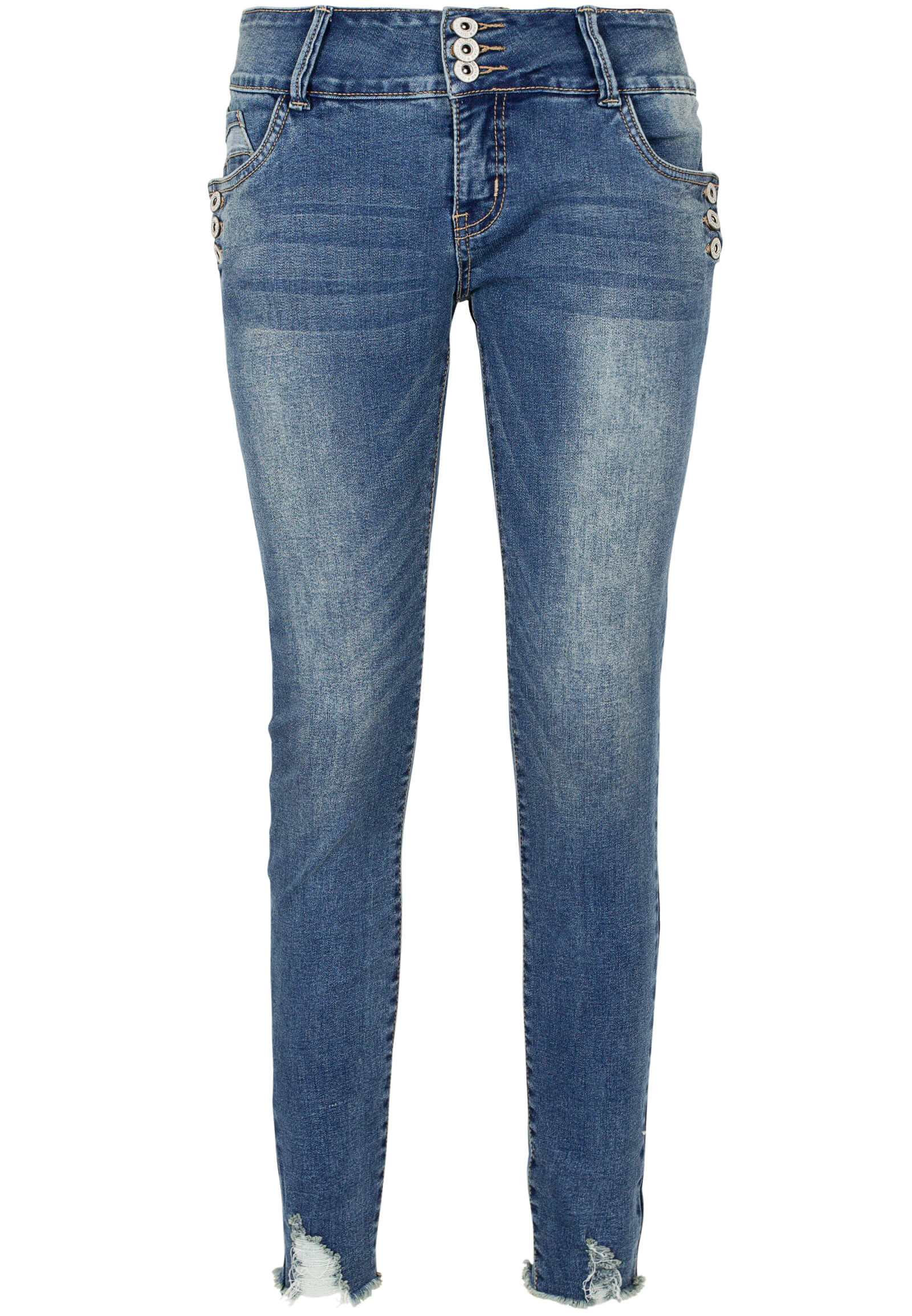 Jeans mit Knopfdetail