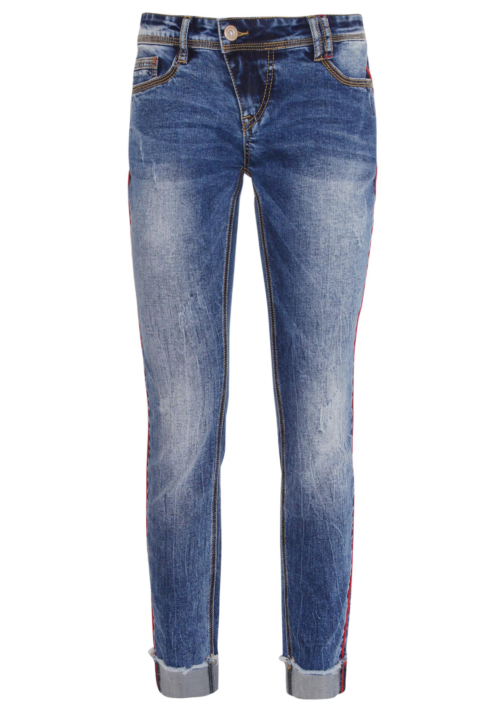 Jeans mit Seitenstreifen AMY