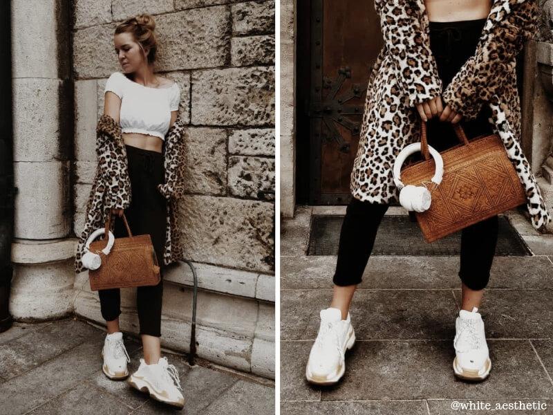 Blogger Outfit mit Leoparden Mantel