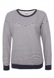 Schwarz-Weiß gestreiftes Sweatshirt