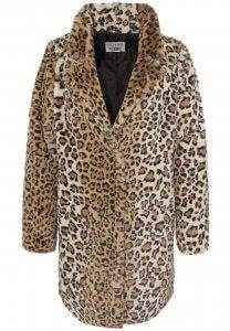 Damen Pelz-Mantel mit Leoparden Muster