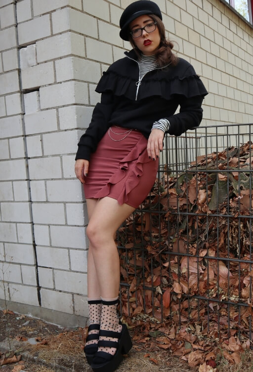 Grunge Look mit Rock