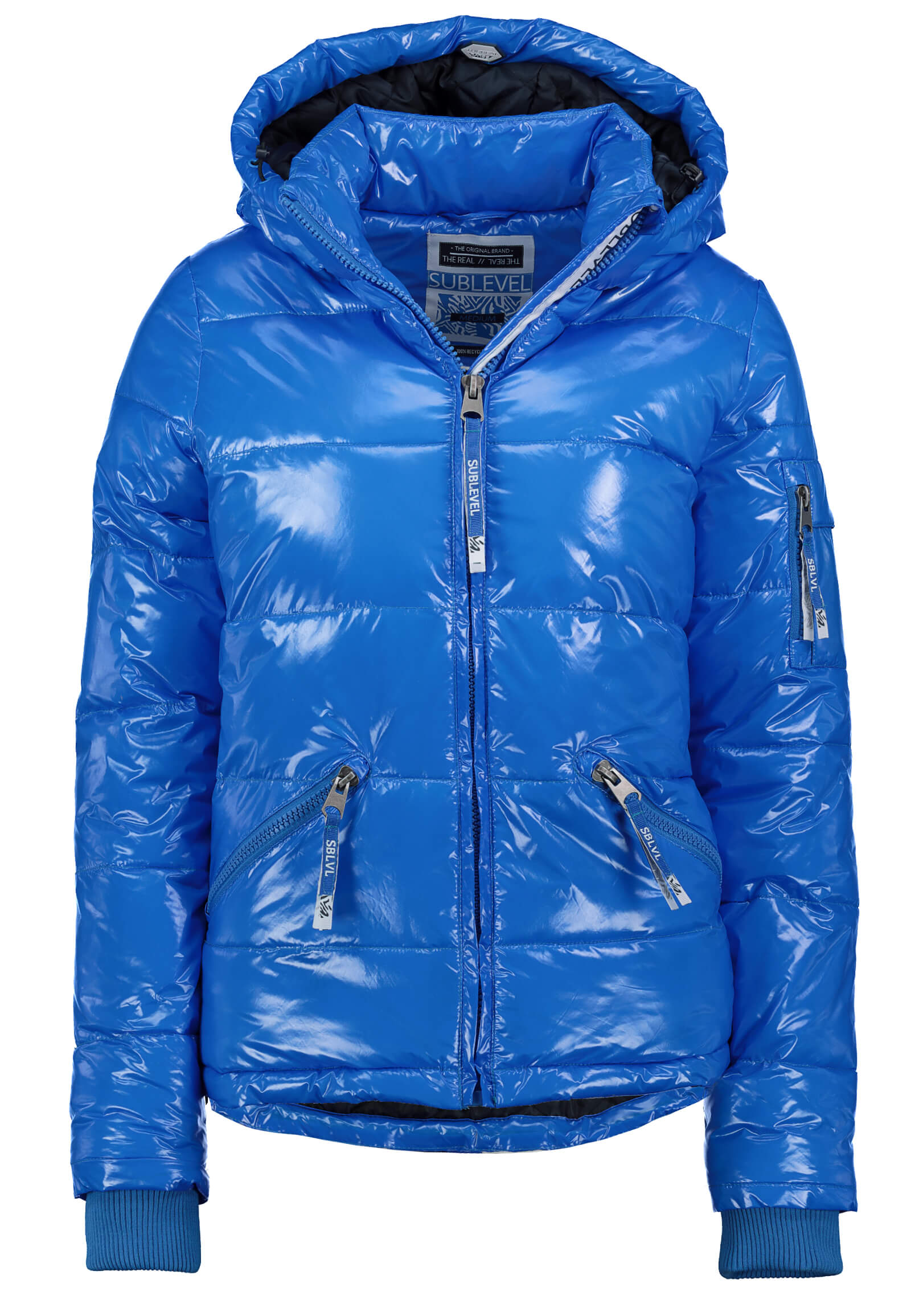 Glossyjacke blau