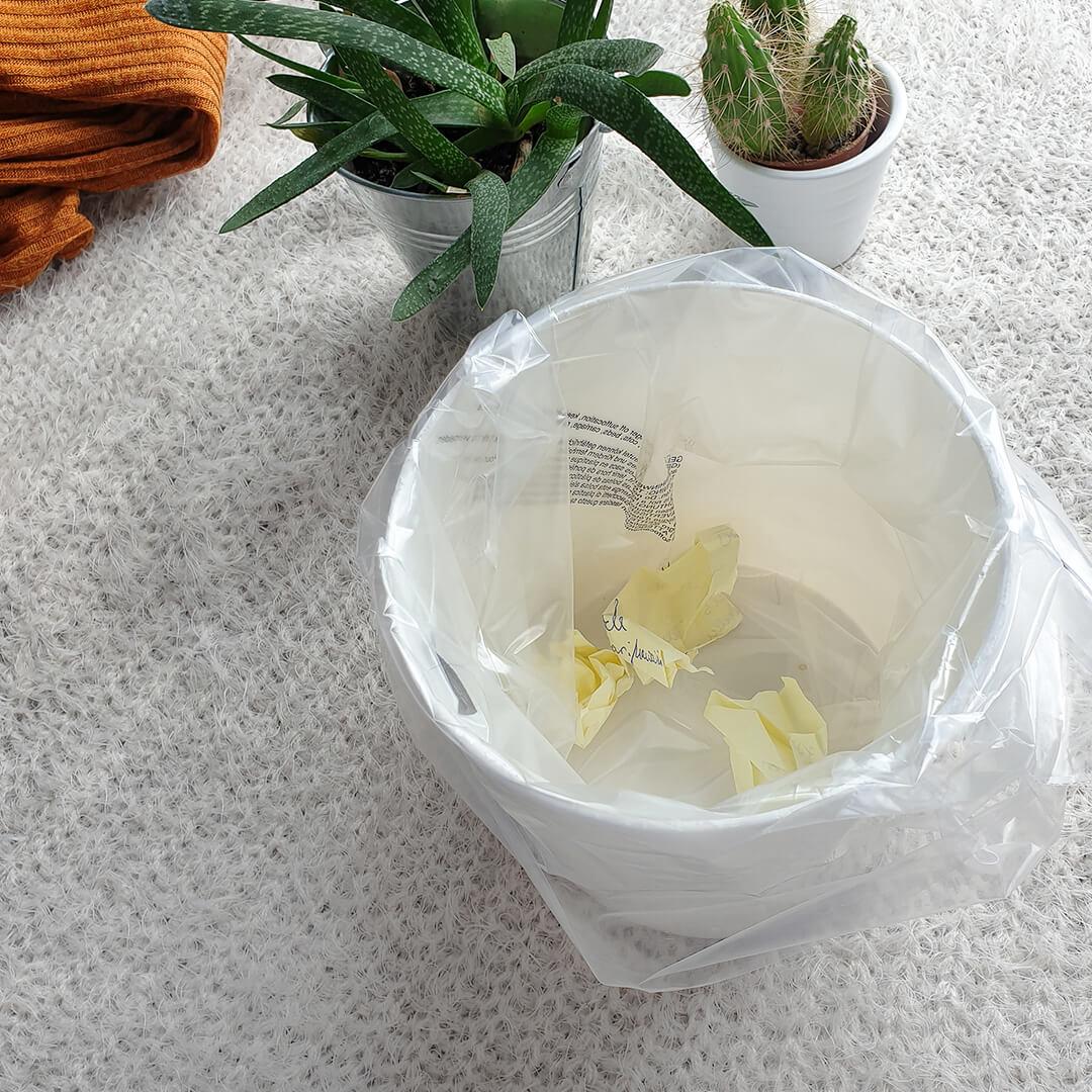 Plastiktüte als Müllbeutelersatz