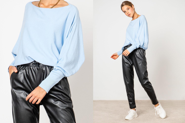 Casual Style mit Lederhose