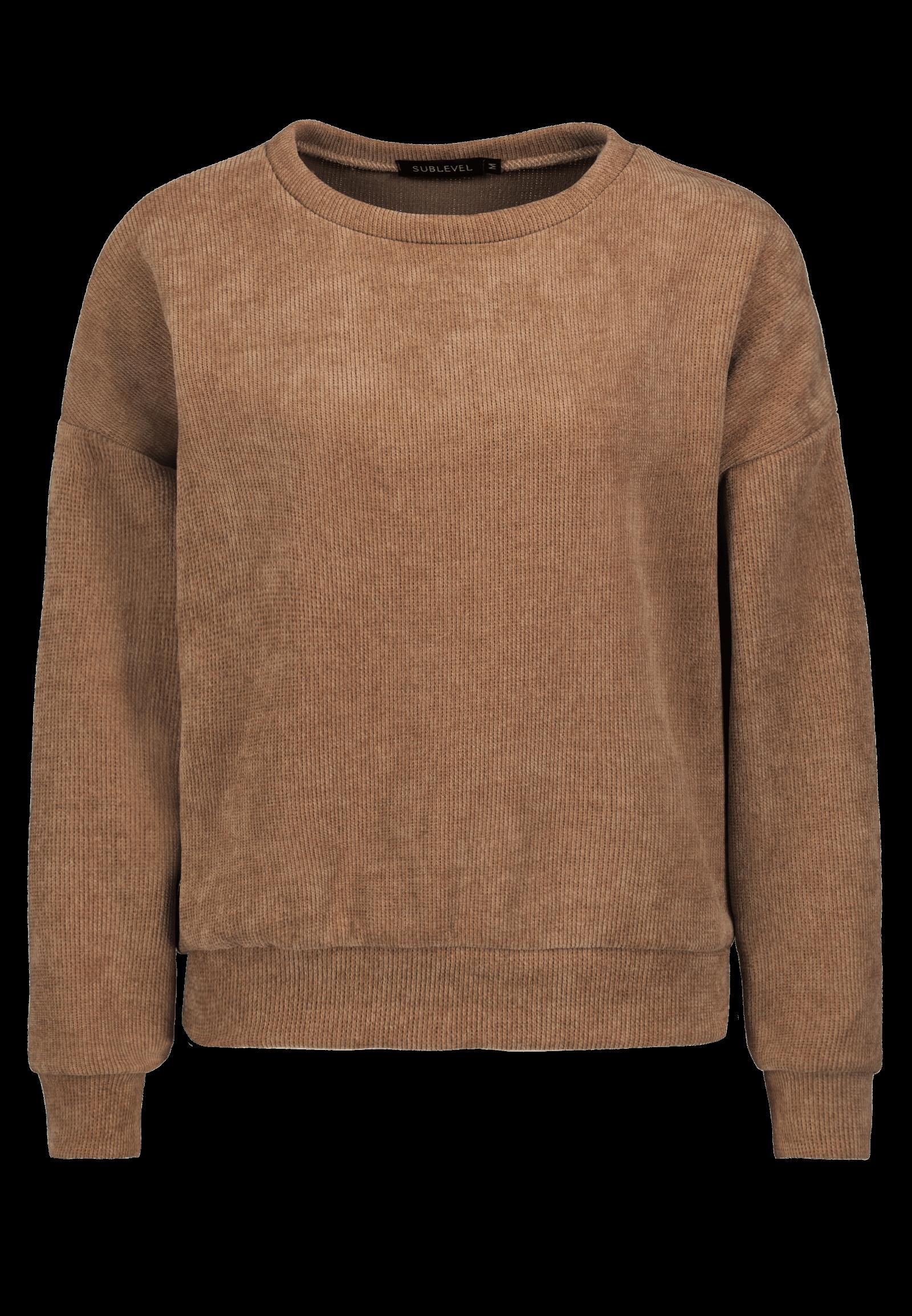 Cord-Pulli Loungewear-Set braun