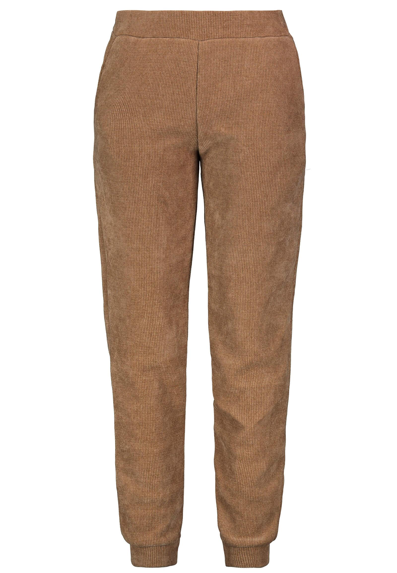 Cord-Hose Loungewear-Set braun
