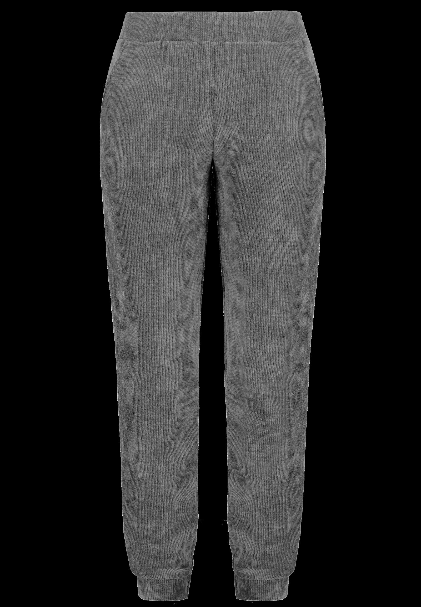 Cord-Hose Loungewear-Set grau