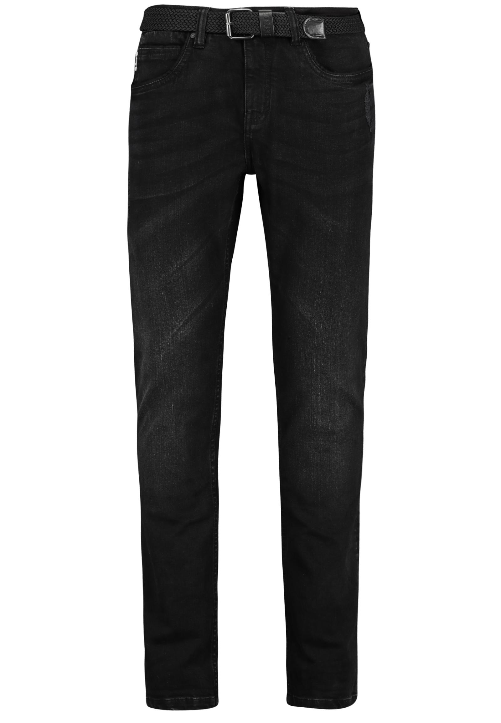Artikel klicken und genauer betrachten! - Schwarze Herren Jeans mit Gürtel bei FASHION5 ★ GÜNSTIG ✔ BEI DIR IN 1-3 WERKTAGEN ✔ KOSTENLOSE RÜCKSENDUNG | im Online Shop kaufen