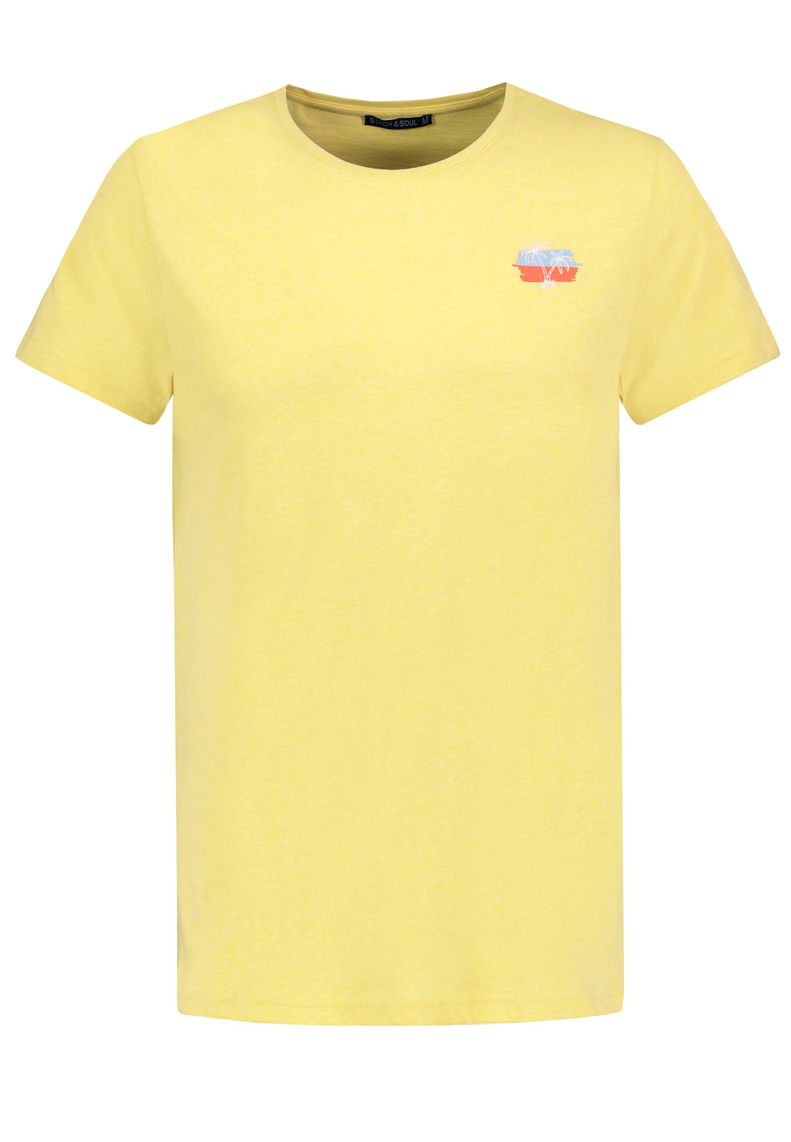 stitch & soul - Shirt mit Hawaii Miniprint